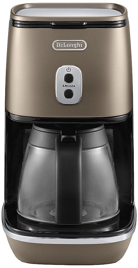 DeLonghi ICMI 211.BZ - Cafetera (Independiente, Cafetera de filtro, 1,25 L, De café molido, 1000 W, Bronce)