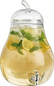 Home Essentials 2.4 Gallon Pear Shaped Beverage Dispenser