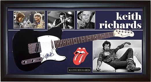 Keith Richards – Rolling Stones firmado guitarra + pantalla ...