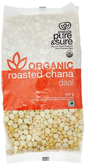 Pure & Sure Organic Roasted Chana, 500g