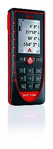 Leica DISTO E7500i 660ft Laser Distance Measure w/Bluetooth & DISTO Sketch iPad iPhone App, Black/Red