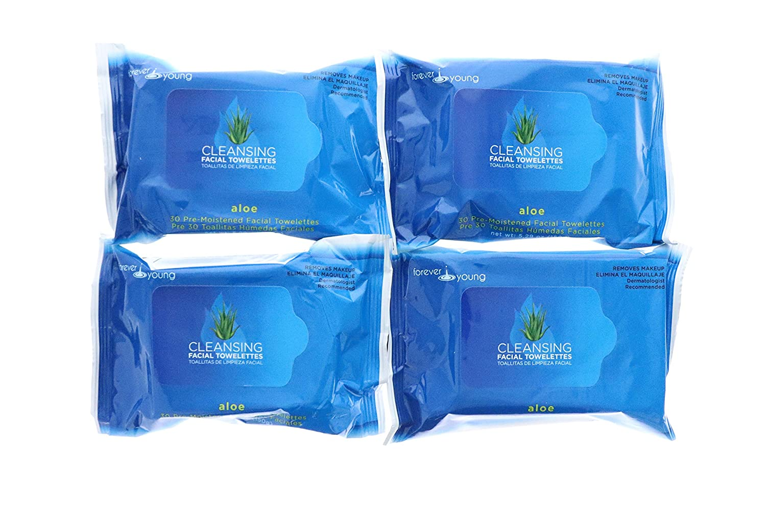 Amazon.com: SpaLife Cleansing Wipes Facial Towelettes - 30 Count - 4 Pack Variety - Cucumber, Aloe, Rose & Lavender (Aloe): Beauty