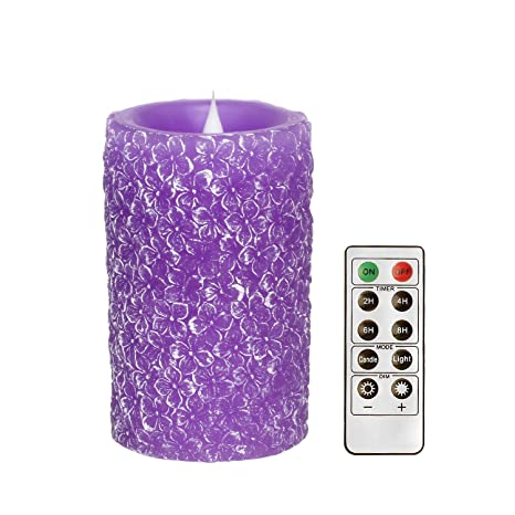 Amazon.com: Romingo - Vela LED con temporizador y mando a ...