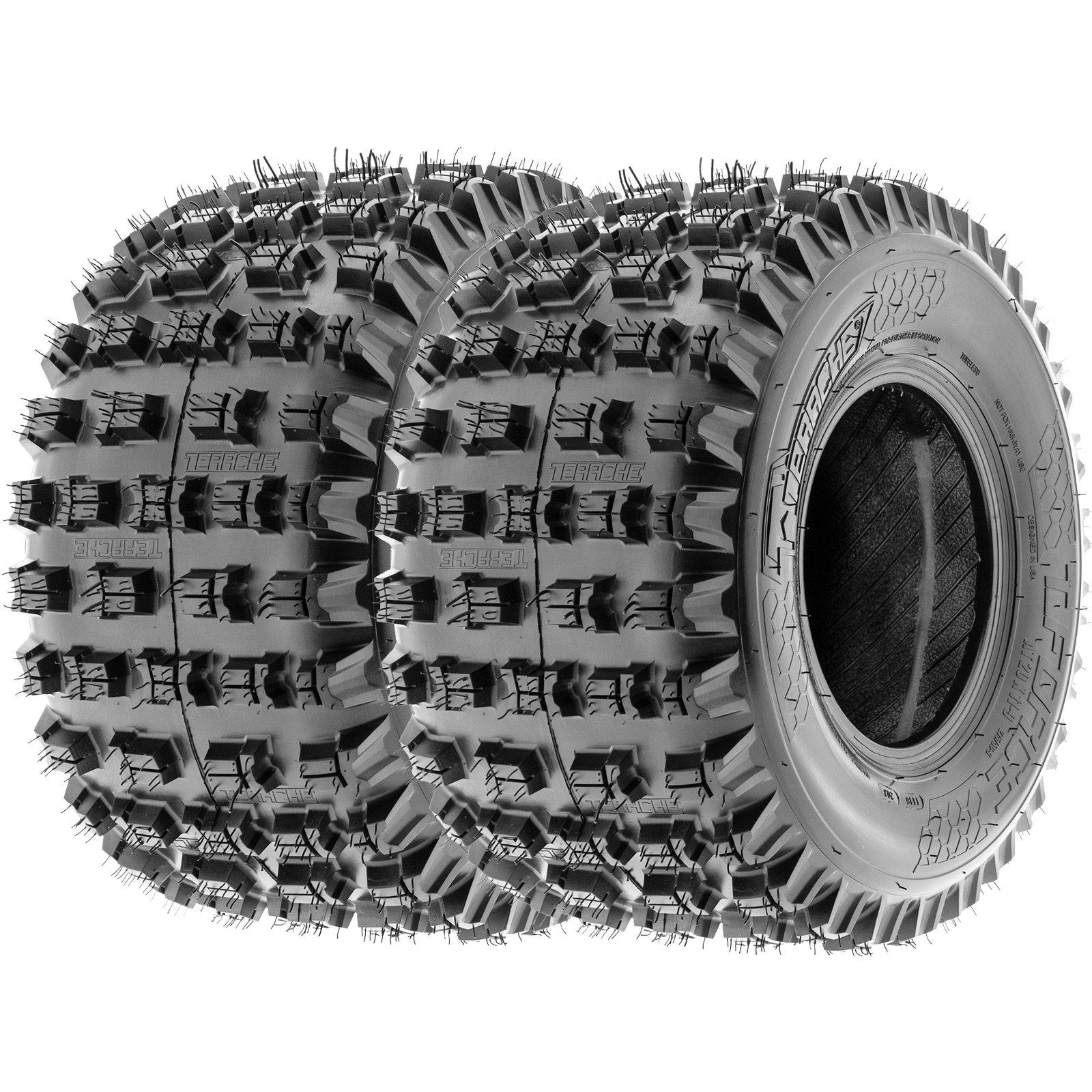 Terache T-FORCE XC ATV Knobby Tires 22x10-10 22x10x10 6 Ply (Set pair of 2)