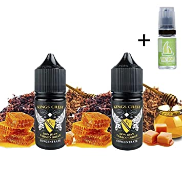 Aroma Kings Crest Don Juan Tabaco Dulce 30ml (Pack 2 unidades) + E Liquid The boat 10ml sin nicotina para cigarrillos electrónicos.: Amazon.es: Salud y cuidado personal