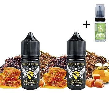 Aroma Kings Crest Don Juan Tabaco Dulce 30ml (Pack 2 unidades) + E Liquid The boat 10ml sin nicotina para cigarrillos electrónicos.: Amazon.es: Salud y cuidado personal