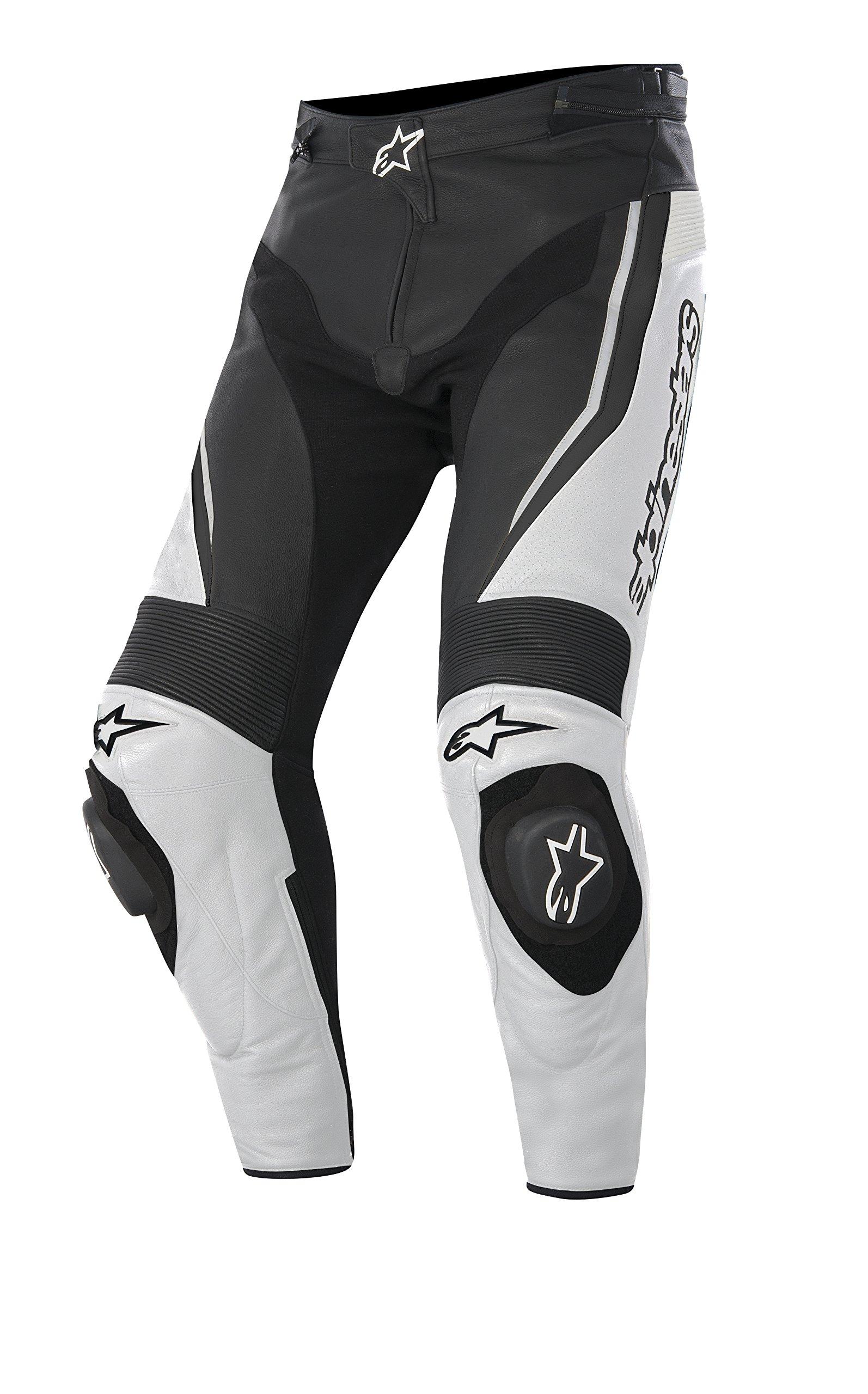 Alpinestars Track Men's Sports Bike Motorcycle Pants - White/Black / Size 50