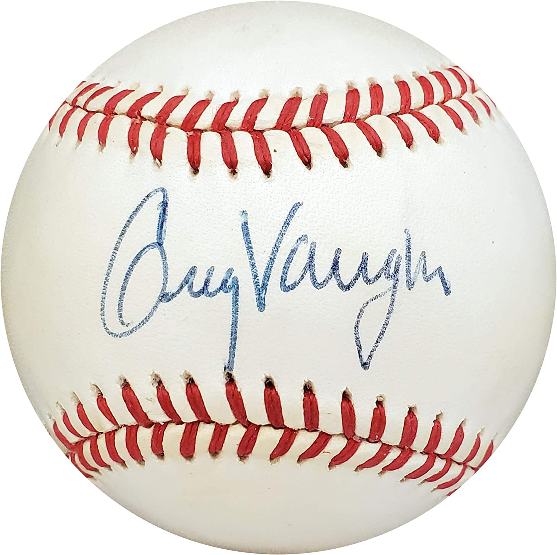Greg Vaughn Signed Ball Beckett Authentication Official AL Milwaukee Brewers Beckett BAS #S73872