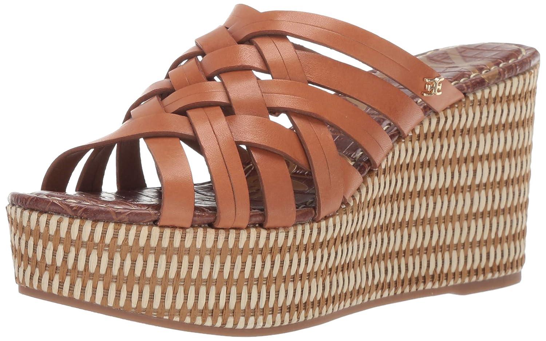 Saddle Leather Sam Edelman Womens Devon Wedge Sandal
