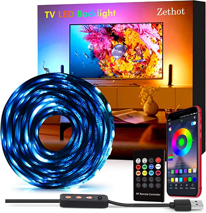 Tiras LED 3.5M, Tira de luces retroiluminadas USB para TV de 55