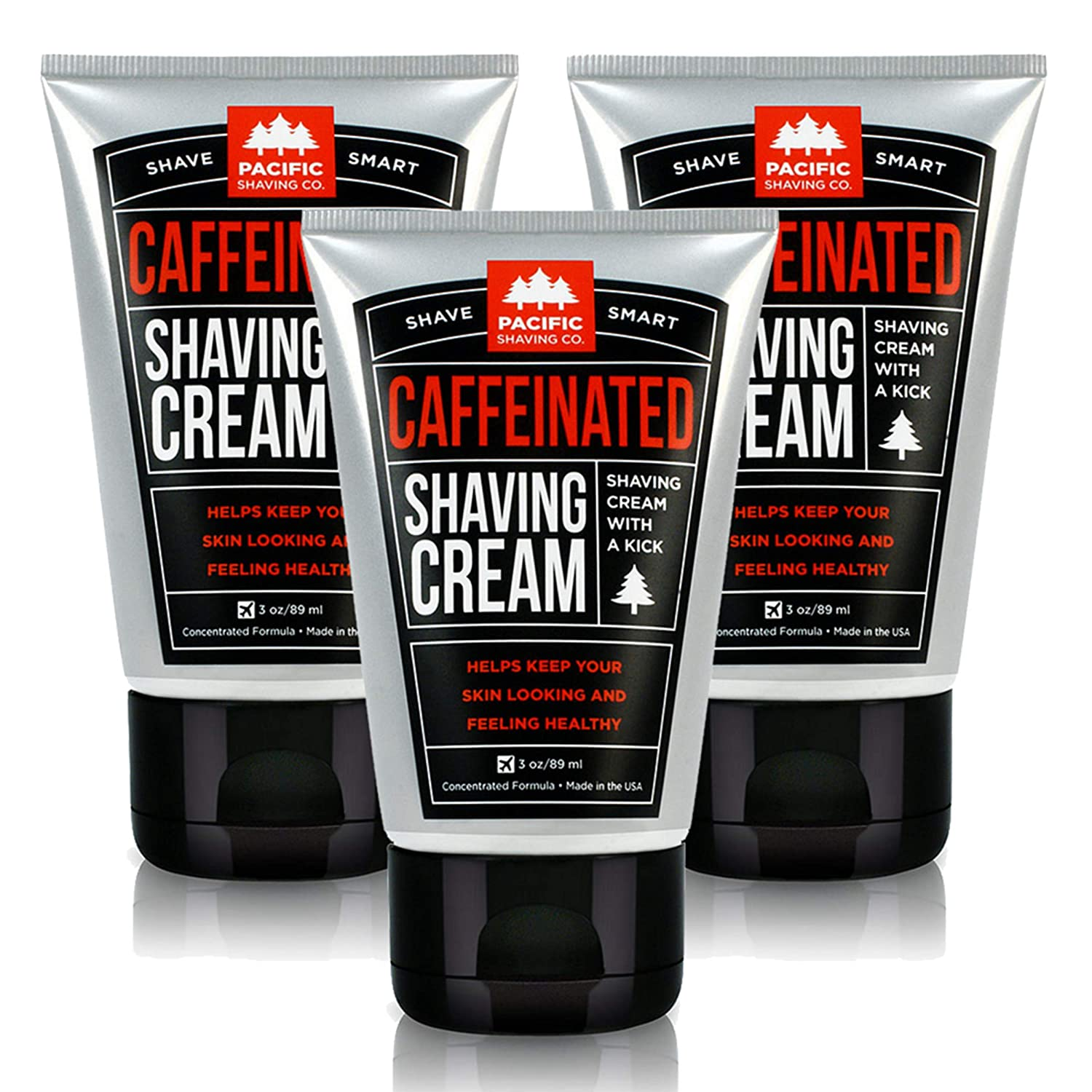 Pacific Shaving Company Caffeinated Shaving Cream, 1 Pack C-SC