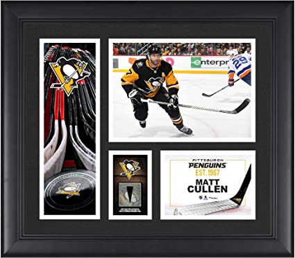 """bb9dad19 Matt Cullen Pittsburgh Penguins Framed 15"""" x 17"""" Player Collage  with a Piece of"""