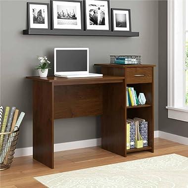 Student Dorm Home Office Laptop Computer Modern Wood Workstation Desk Alder