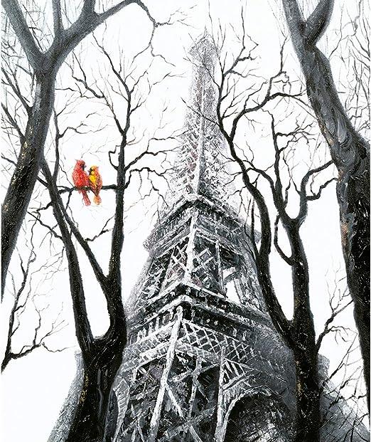 Camino a casa | Cuadro Bird at Eiffel - Estructura de Madera de ...