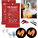 Fire Blanket For Home XL - 47 x 47 Fire Blankets Emergency For People Fire Retardant Blanket Fire Shelter Large Suppression F