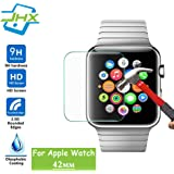 Apple Watch Screen Protector (42mm Series 3 / 2 / 1 Compatible) Tempered Glass Screen Protector Anti-scratch Bubble-free Ultra-thin HD-clear Screen Protector for 2018 new apple watch Series 3 (42 mm)