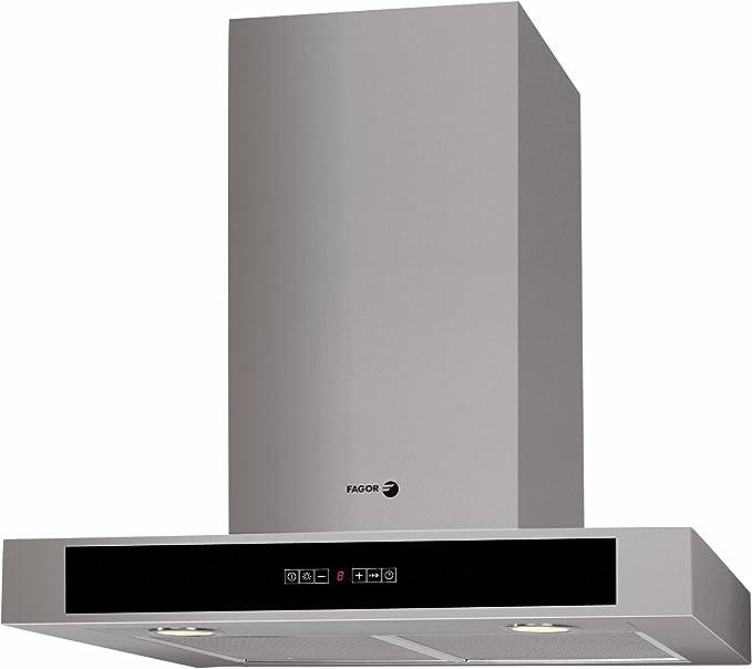 Fagor CFB-600AX - Campana (Recirculación, 800 m³/h, Montado en pared, Halógeno, Acero inoxidable, 2 piezas): Amazon.es: Hogar