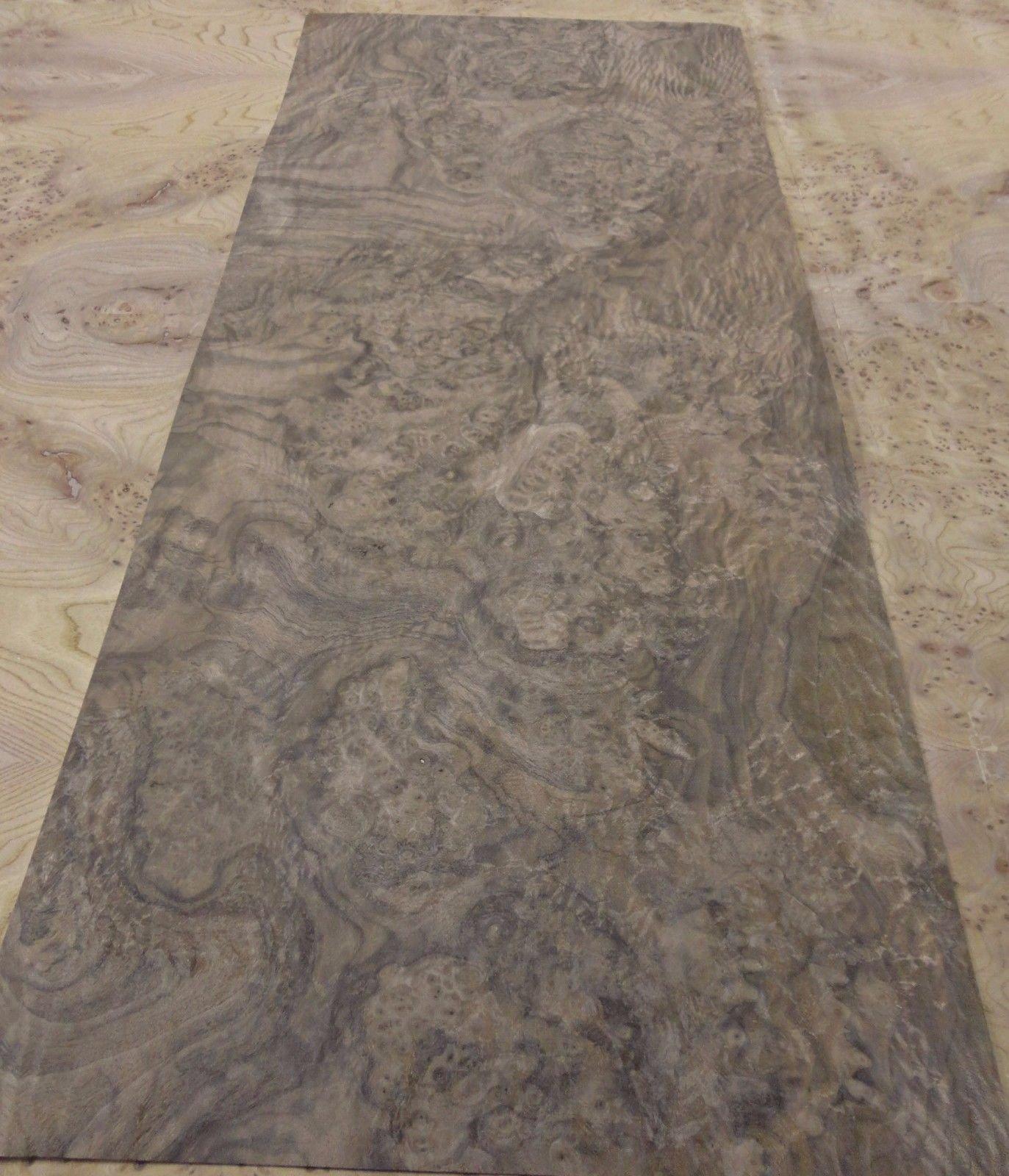Walnut Burl wood veneer 15'' x 33'' with paper backer ''AAA'' quality grade 1/40''