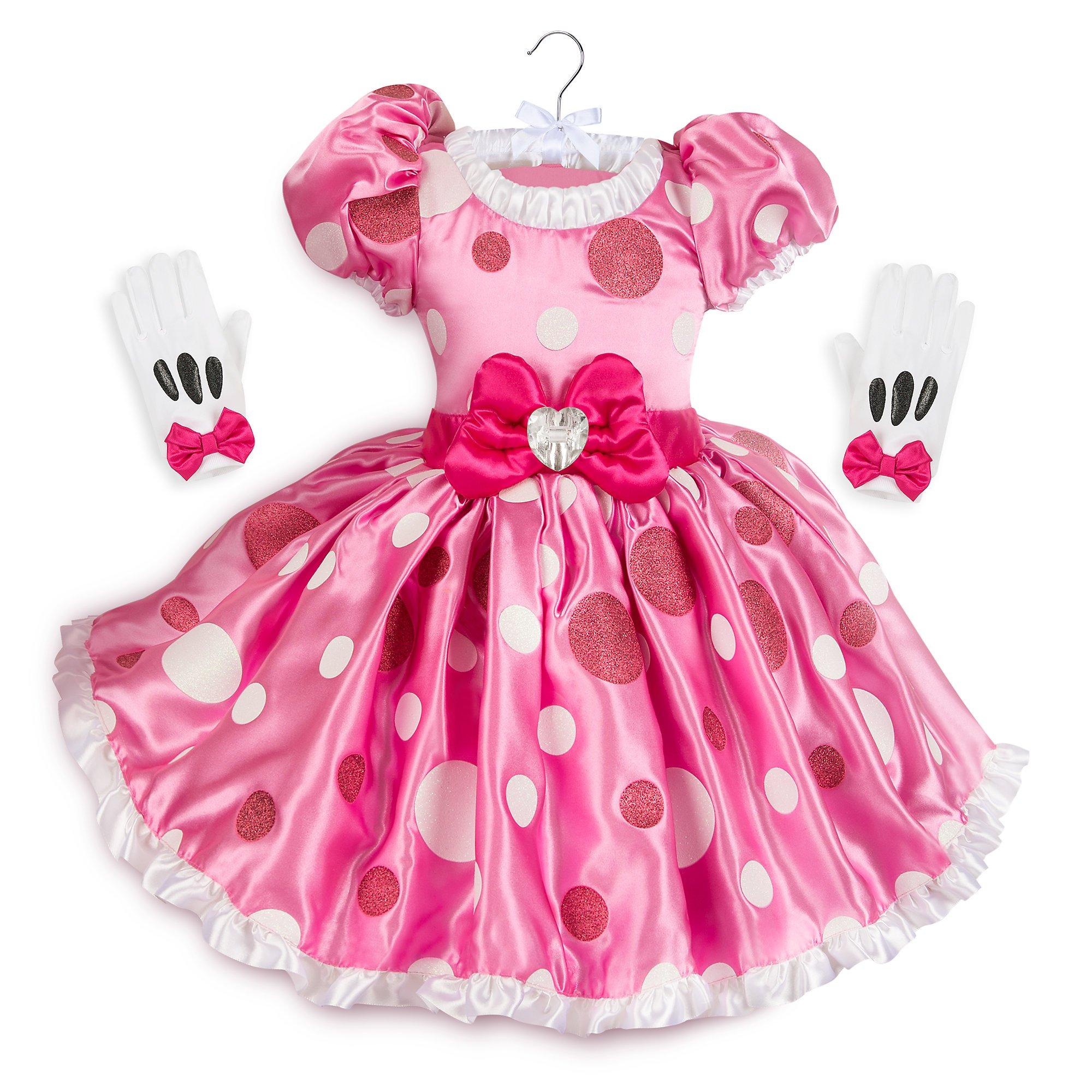 Disney Minnie Mouse Pink Dress Costume Kids Size 5/6 Pink