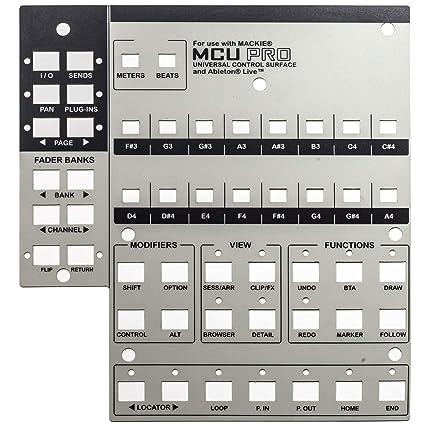 Mackie MCU Pro Lexan - Superposición universal de control para Ableton Live