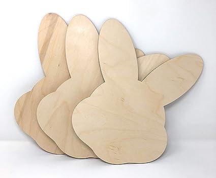 Gocutouts 3 Wooden Easter Bunny Face Cutouts Shapes Wooden Easter Cutouts 3 Package Of 25 Bunny Face