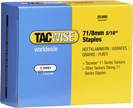 Tacwise 0187 32 x 18mm Wide Crown Copper Staples Box 2000