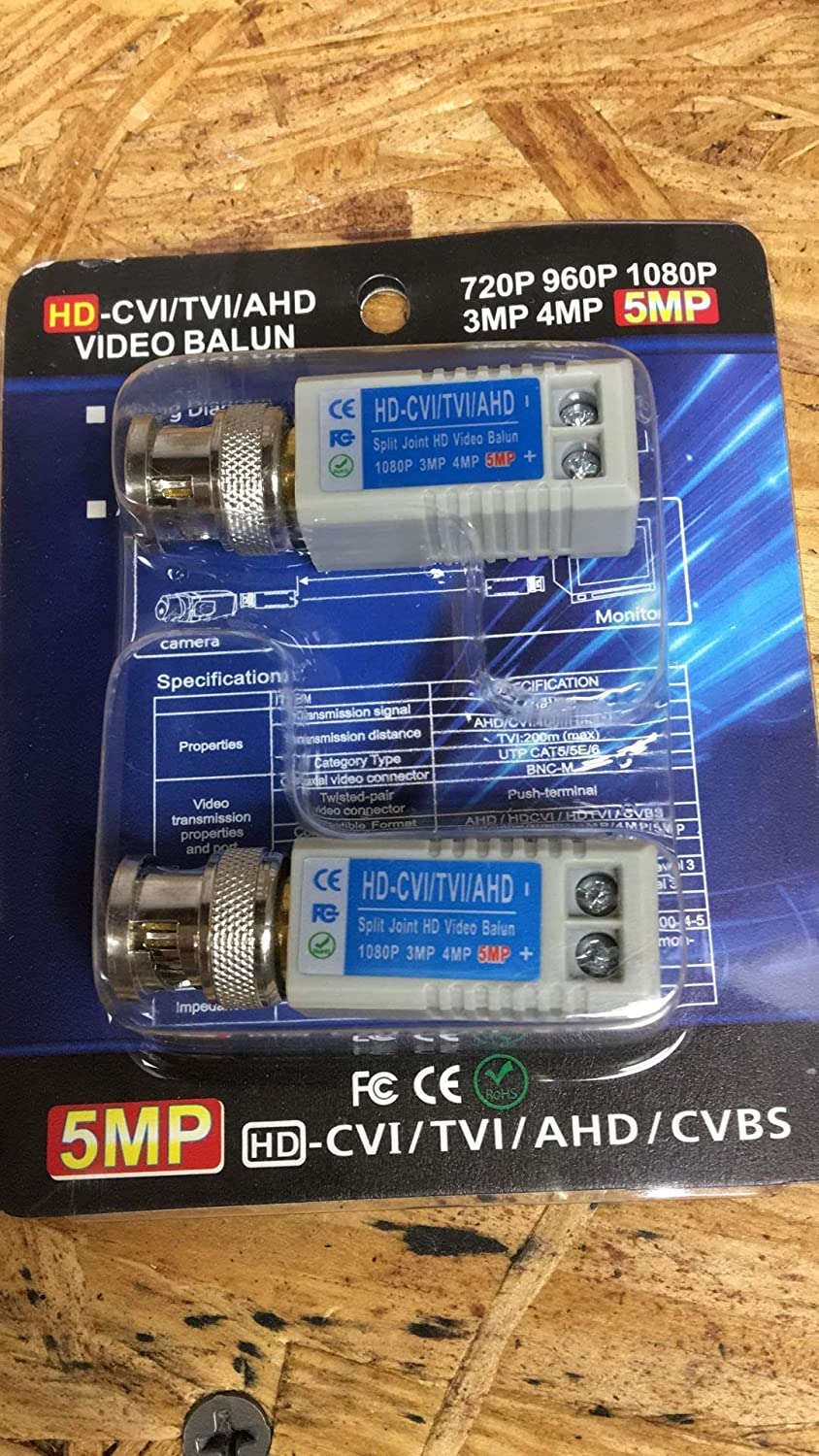 500 (250 Pack of 2) Mini CCTV BNC Video Balun Network CAT5 Connector US SELLER