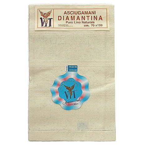 Victoria toallas Lienzo lino Puro con dobladillo a día de fabricación de punto de cruz,