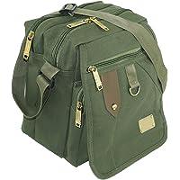 DAHSHA Sling Cross body Travel Office Business Messenger one side shoulder bag for men women (Olive, 8.5X7x10 inch)