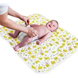 "Portable Changing Pad - Biggest Waterproof & Reusable Changing Mat (25.5""x31.5"") for Change Diaper in Any Places…"