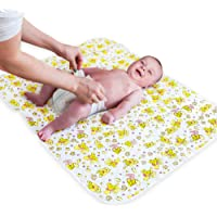 """Changing Pad Portable for Home & Travel - Large Size 31.5""""x25.5"""" - Biggest Waterproof Changing Mat - Changing Pad Cover…"""