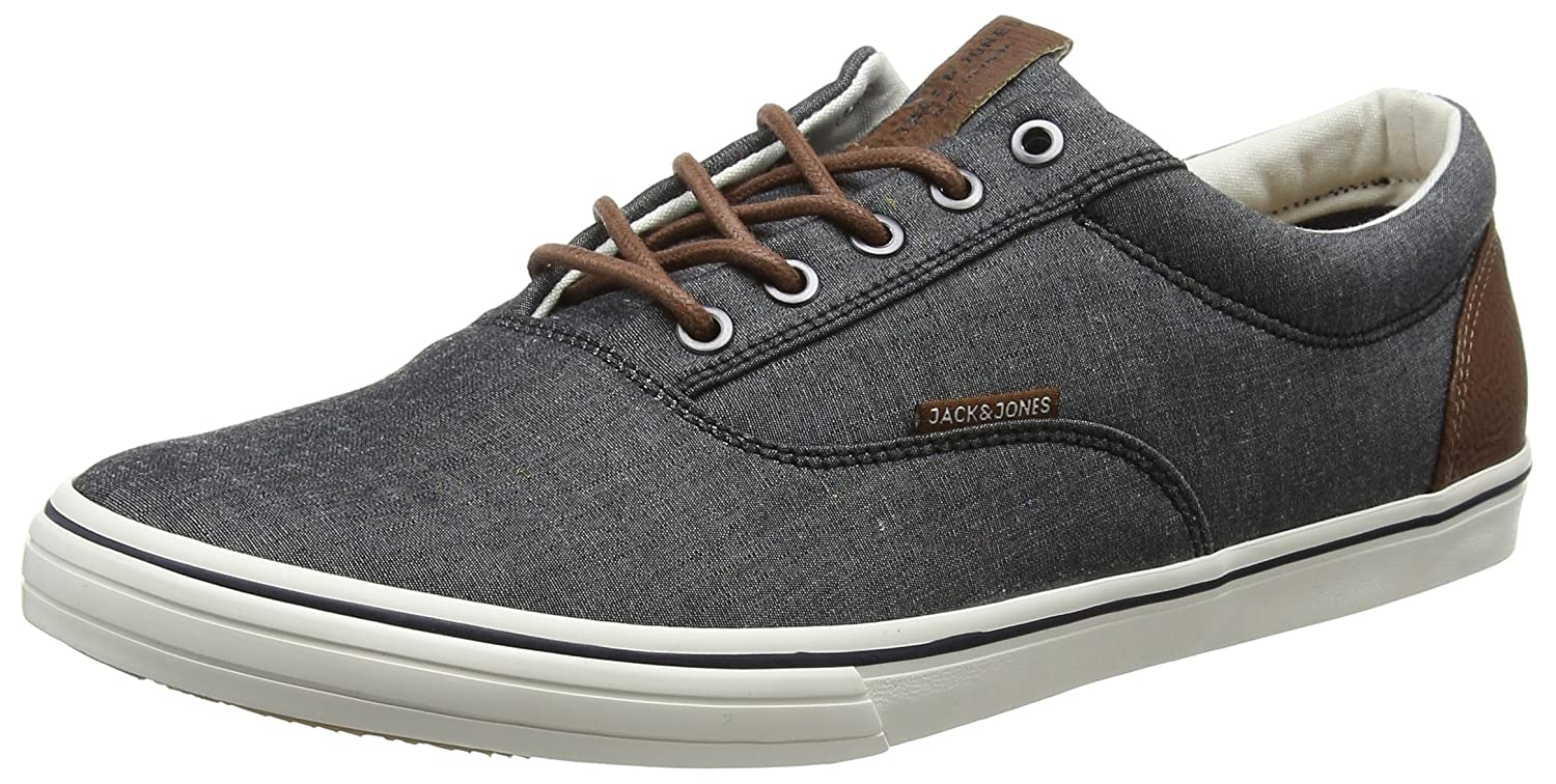 TALLA 44 EU. Jack & Jones Jfwvision Chambray Mix SS Anthracite, Zapatillas para Hombre