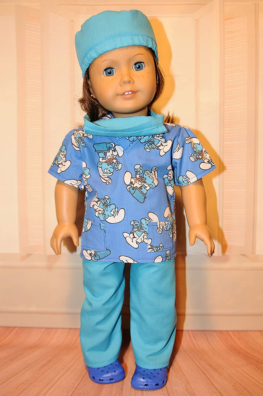 Doctor Smurf Scrubs for 18 Dolls
