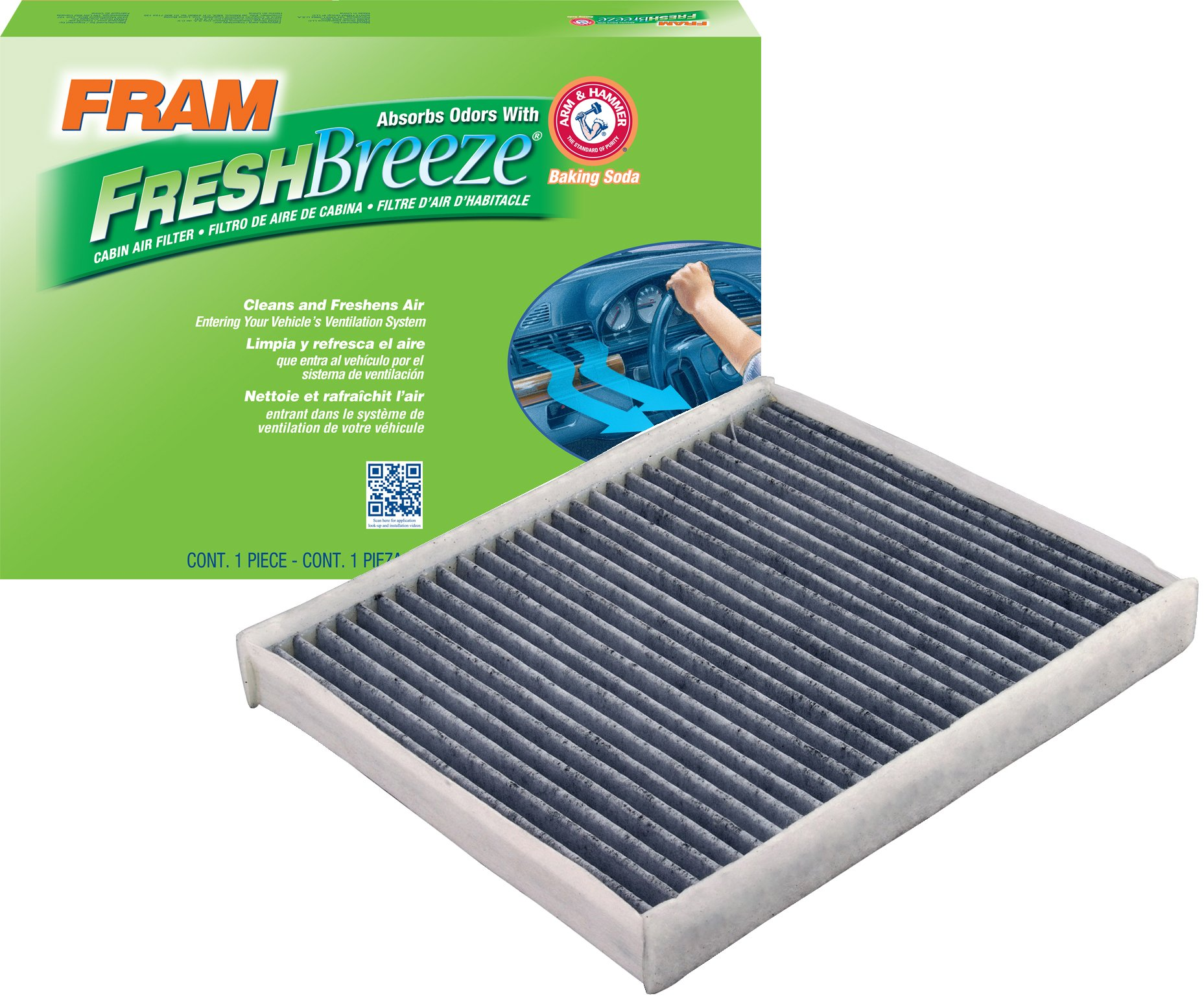 FRAM CF11176 Fresh Breeze Cabin Air Filter with Arm & Hammer