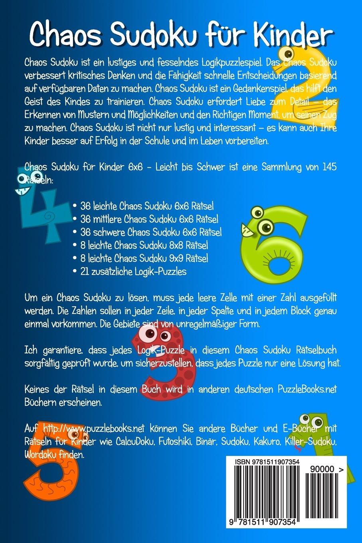 Chaos Sudoku für Kinder 6x6 - Leicht bis Schwer - Band 1 - 145 ...