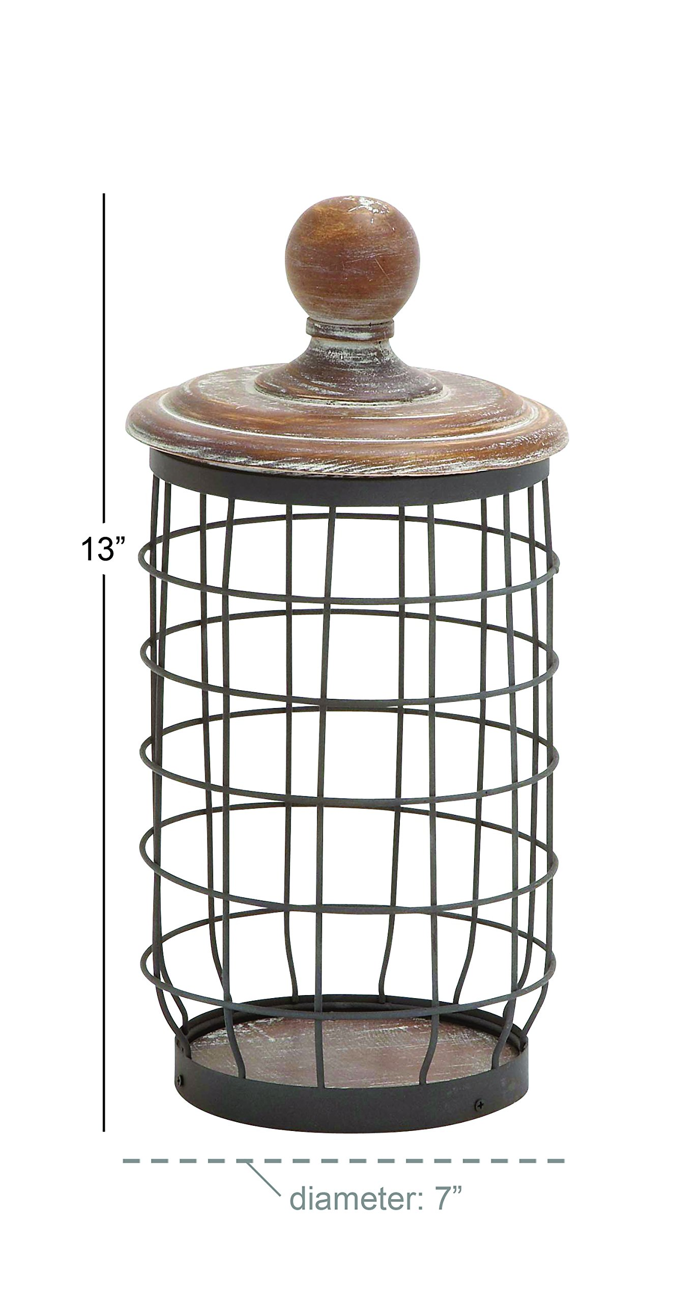 Deco 79 55313 Metal Wood Wire Jar, 7'' by 13'' by Deco 79 (Image #2)