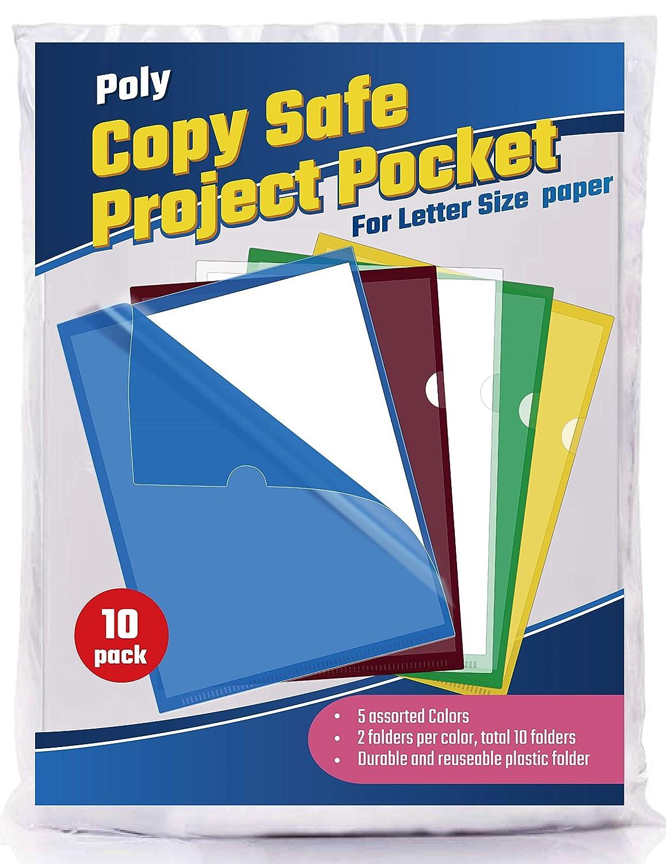 Assorted Colors Phetronix Copy Safe Project Pocket Folder 10-Pack ...