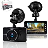 """OldShark 3"""" 1080P Dash Cam with 32GB Card, 170 Wide Angle Car On Dash Video, G-Sensor, Night Vision, WDR, Parking Guard, Loop Recording Dashboard Camera Recorder"""