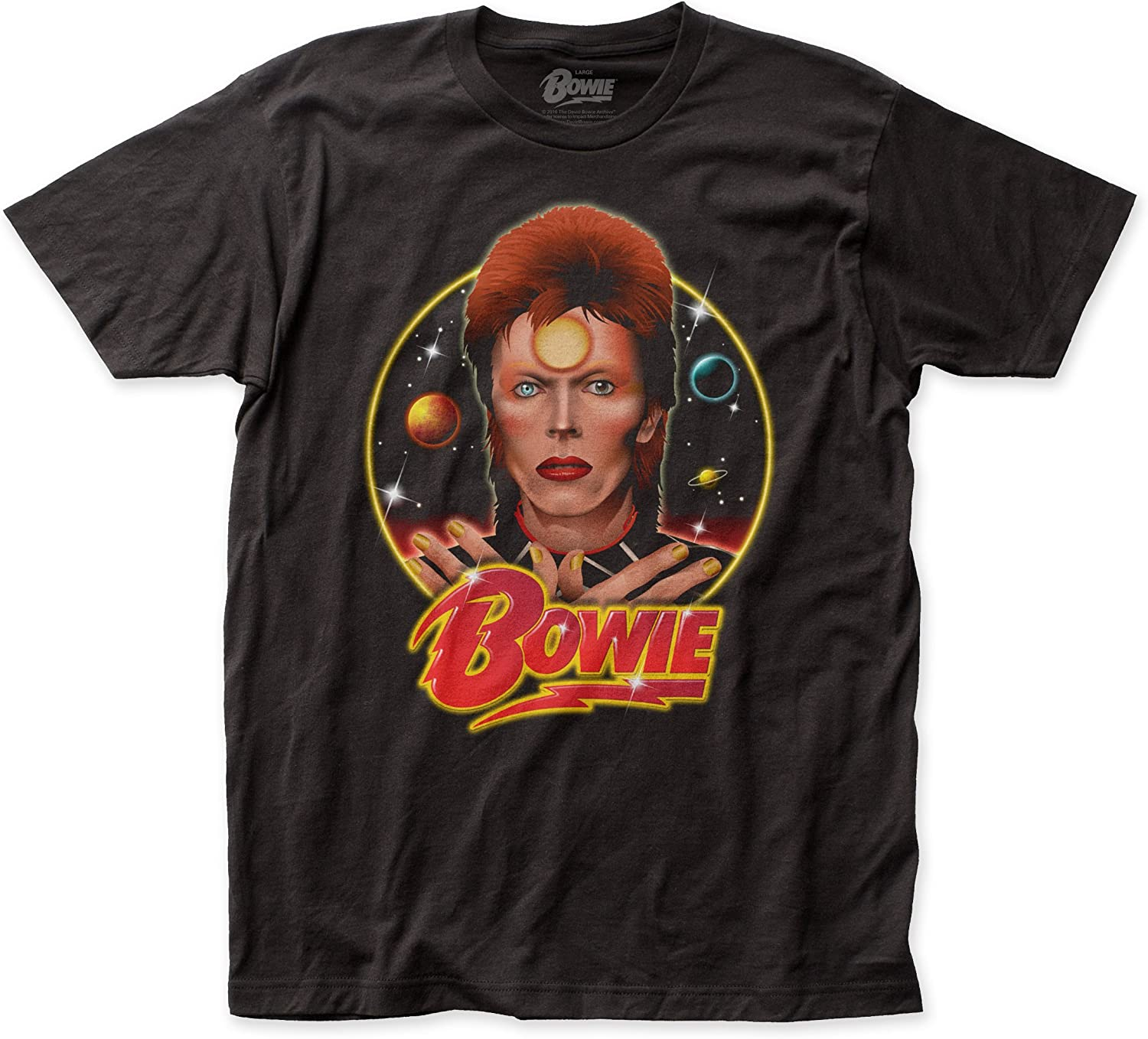 Impact David Bowie Space Oddity Fitted Jersey tee