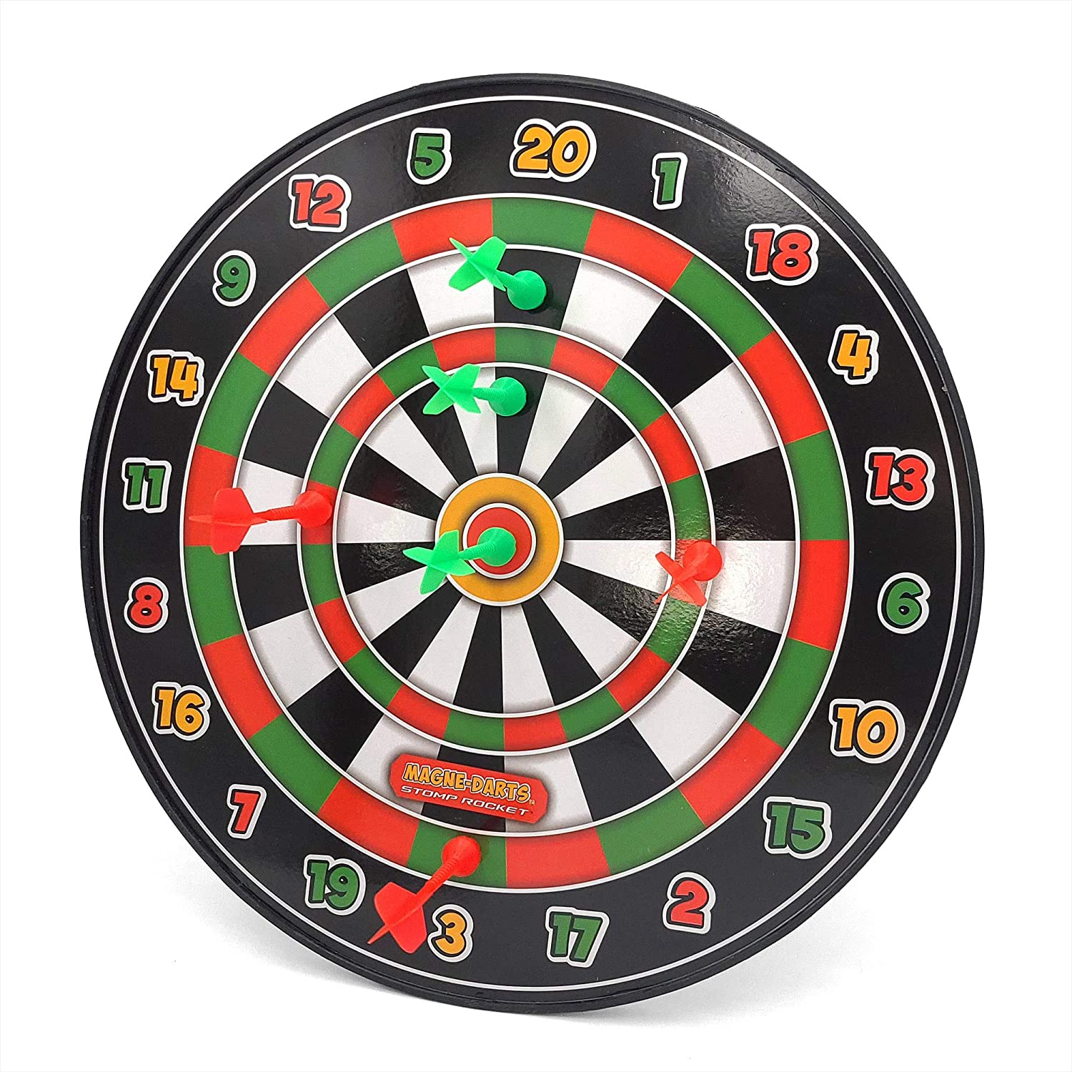1 Dartboard with 6 Magnetic Darts for Kids Stomp Rocket The Original Magne-Darts Safe Party Games and Toys Great for Outdoor and Indoor Play