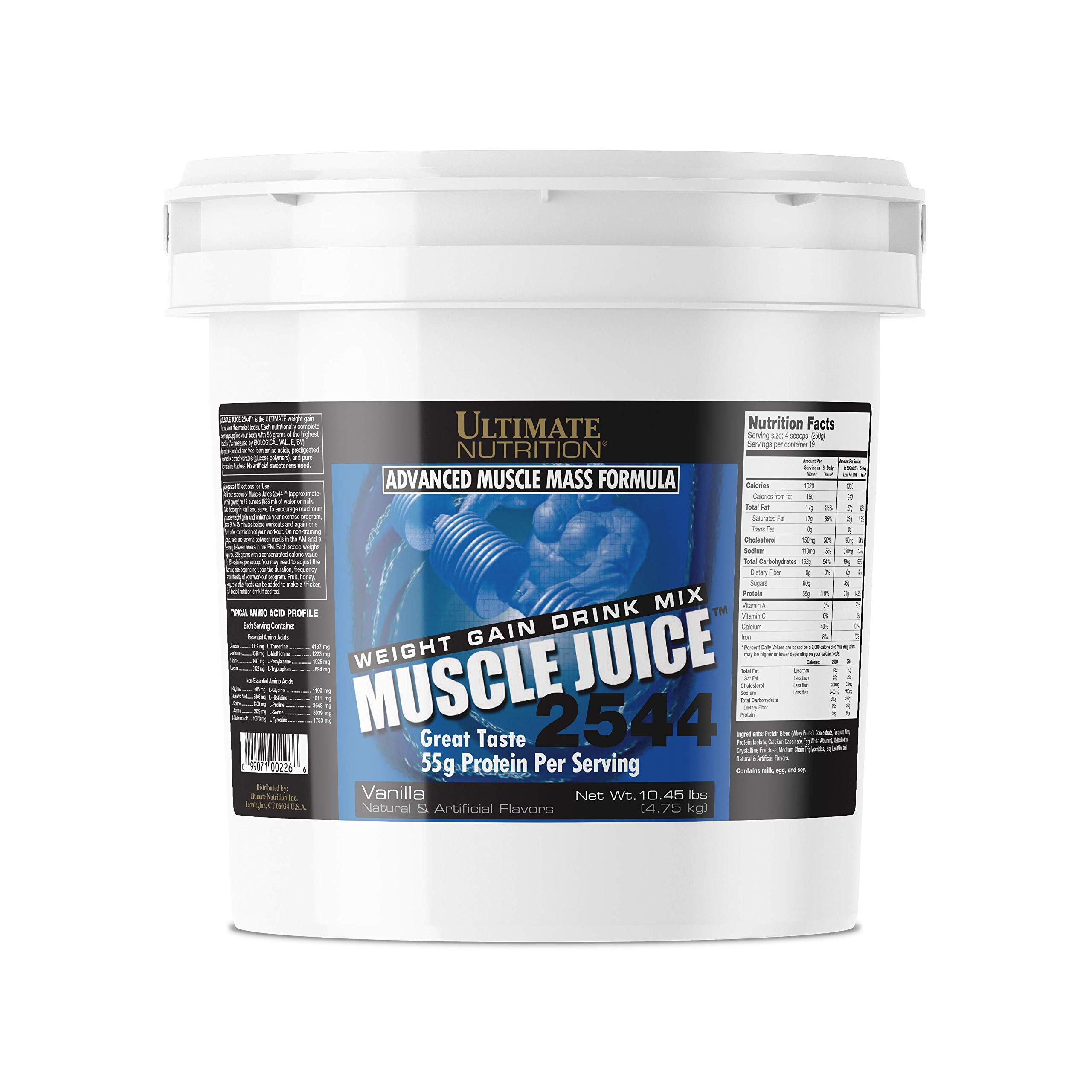 Ultimate Nutrition Muscle Juice 2544 Classic Gainer Protein (Vanilla, 10 Pounds) by Ultimate Nutrition