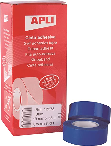 Amazon.com: APLI 12273 33m Blue Stationery/Office Tape ...