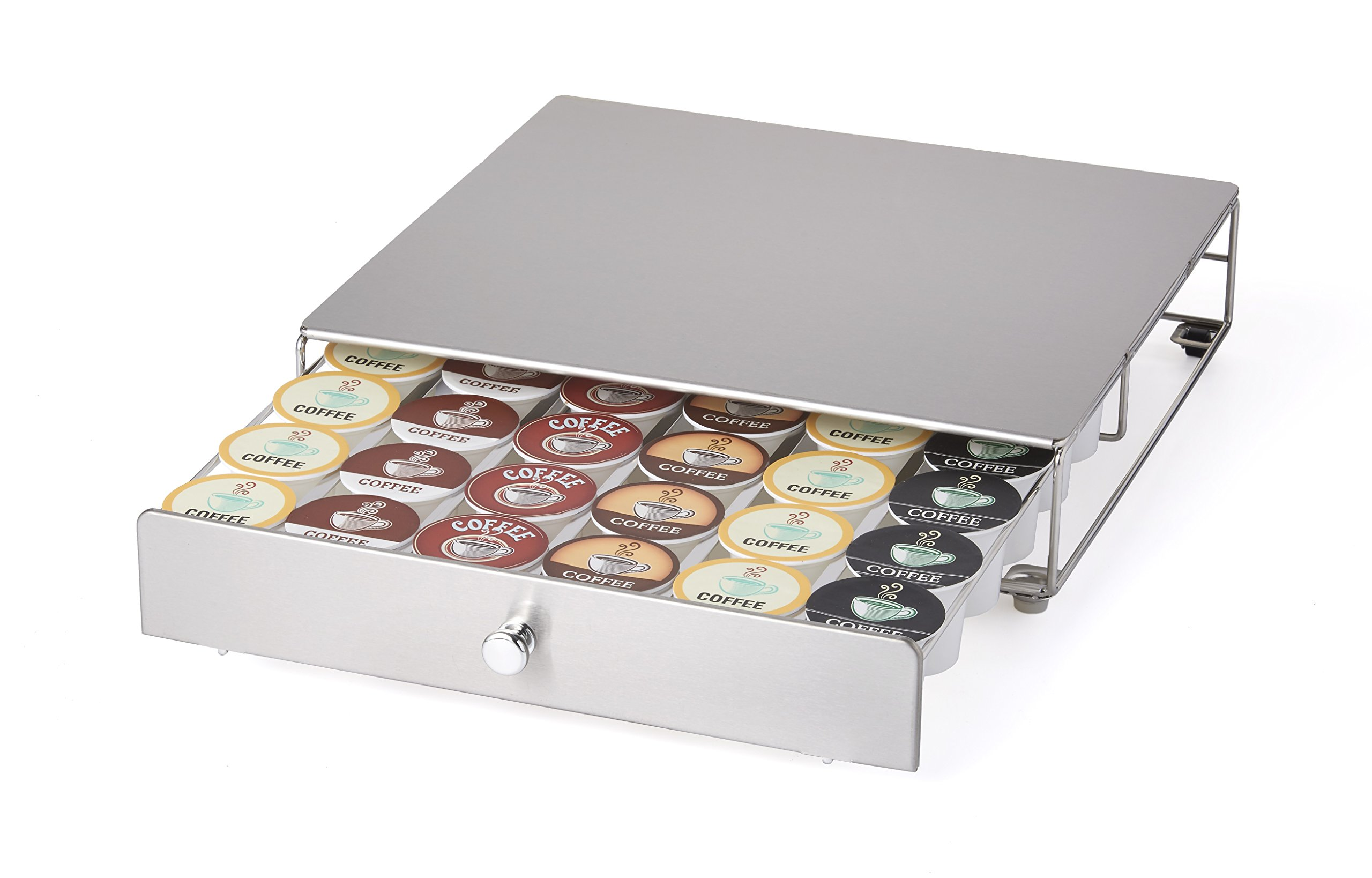 NIFTY 6498 Keurig Brewed Stainless Steel K-Cup Rolling Drawer, Metallic by NIFTY