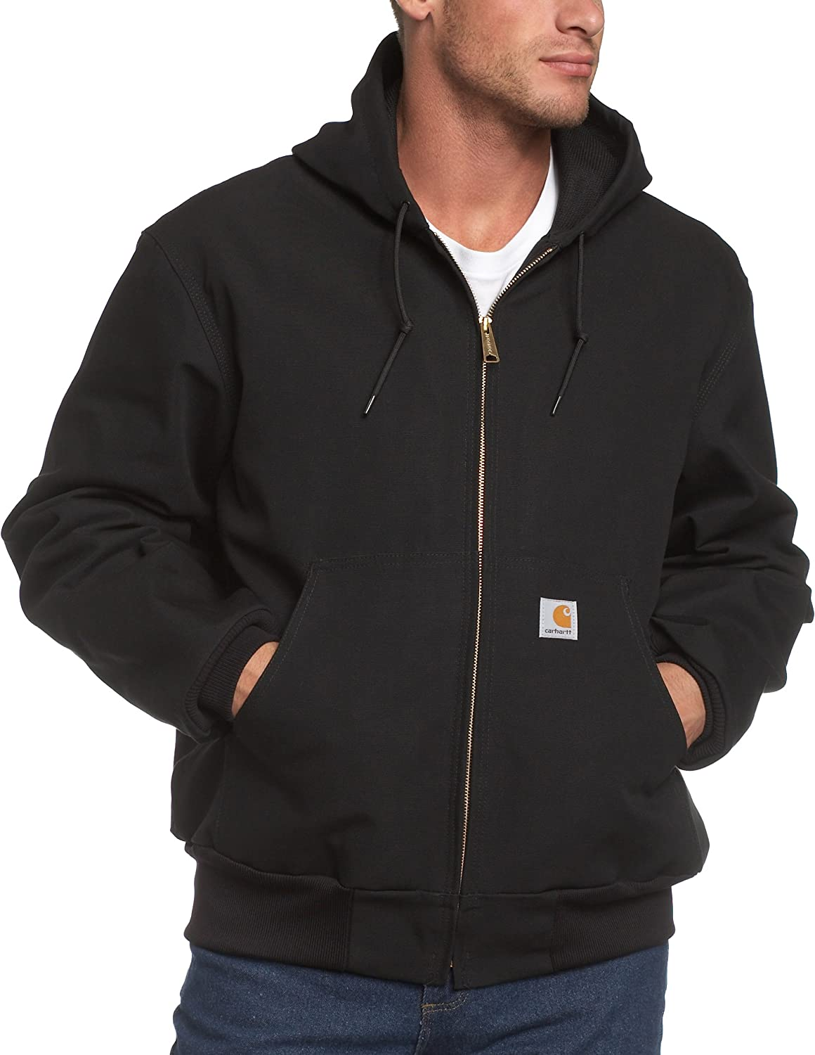 Carhartt Men's Big & Tall Thermal-Lined Duck Active Hoodie Jacket J131 at  Men's Clothing store