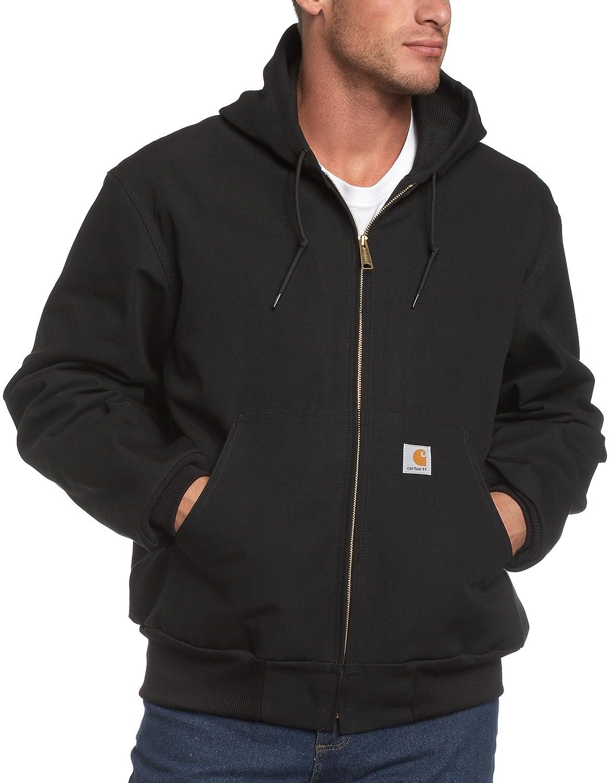 Carhartt Men's Big & Tall Thermal-Lined Duck Active Hoodie Jacket J131