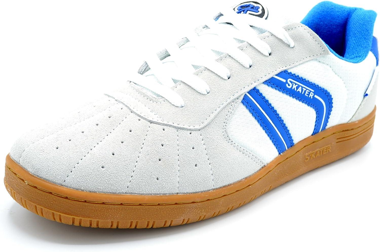 Skater Sala Blanco/Azul - Zapatilla Deportiva clásica de cancha: Amazon.es: Zapatos y complementos