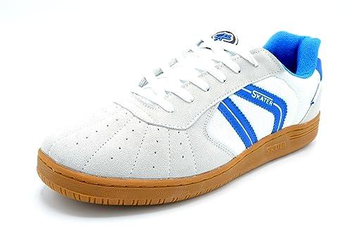 Skater Sala Blanco/Azul - Zapatilla Deportiva clásica de cancha (39)