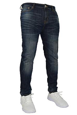 Vaquero elástico de hombre, skinny/slim fit, 98% algodón y 2% elástico, talla de cintura 58 a 50