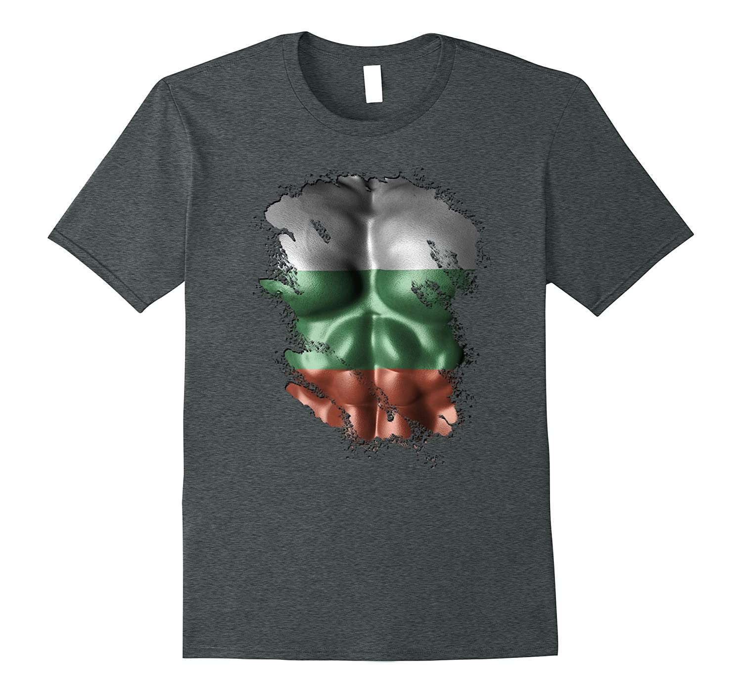 Bulgarian Father's Flag Six Pack Proud Chest Shirt-TH