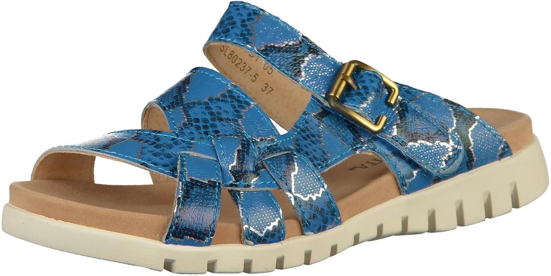 Laura Vita DOBBY05 SL80237-5 Damen Pantoletten Blau, EU 37